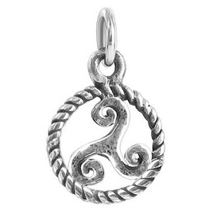 925 Sterling Silver 12mm Round Celtic Pendant