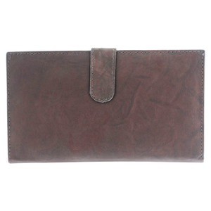 Leather Credit Card Holder Wallet Dark Brown #MW1629-BR