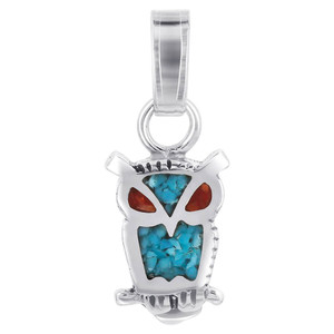 Turquoise and Coral Gemstone Pendant