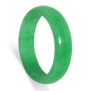 Green Gemstone 5mm Band