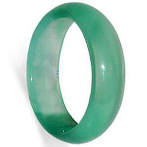 Green Agate Gemstone 5mm Band