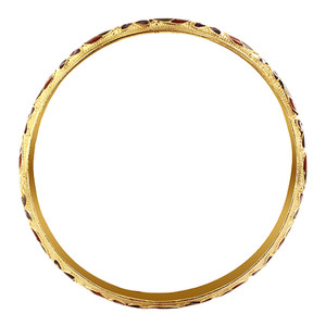 9mm wide Gold Tone Fashion Bangle Bracelet Size 2.10