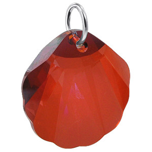 Red Sea Shell like Swarovski Crystal Charm Pendant
