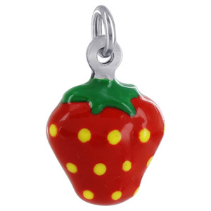 Strawberry Multi Enamel Pendant Charm