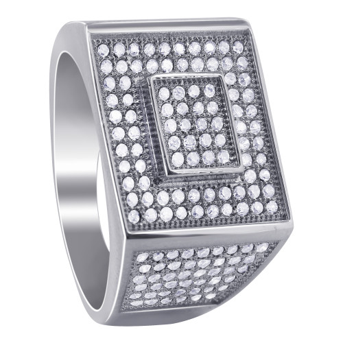 Clear and Black Cubic Zirconia Ring
