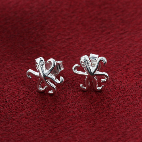 Octopus Stud Earrings