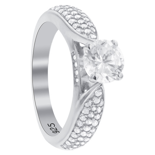 Cubic Zirconia Engagement Ring