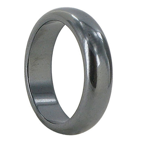 Men's Simulated Hematite 5mm Band