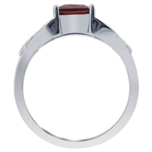 Red Cubic Zirconia Ring
