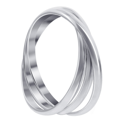 925 Sterling Silver Triple Band Thumb Ring #BDRS018
