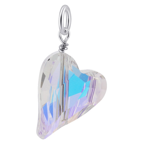 Silver Heart Crystal Pendant with Swarovski Elements