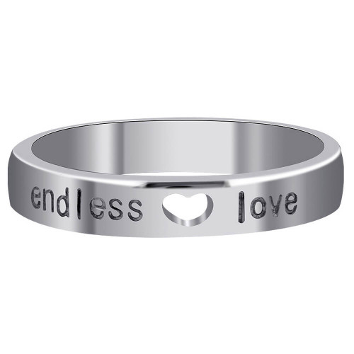Sterling silver Open Heart Band