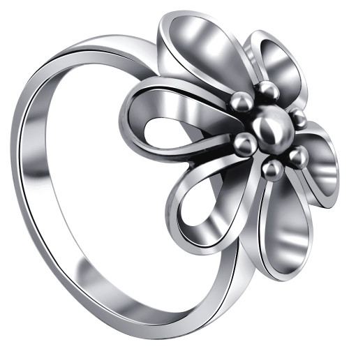 925 Silver 16mm Wide Top Quality Floral Ring