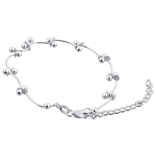 925 Sterling Silver 7 to 8.5 inch Adjustable Bracelet
