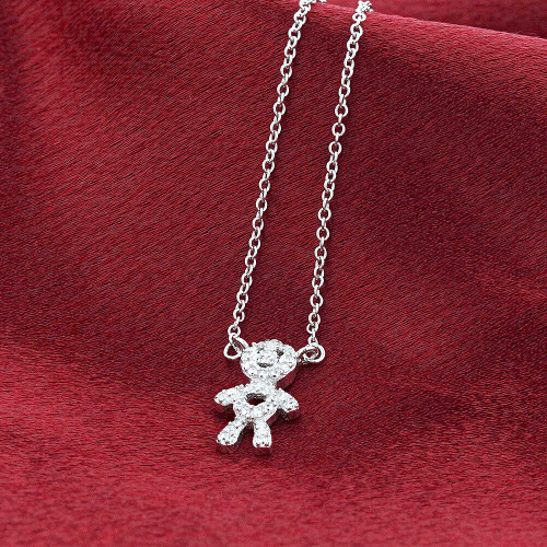 Sterling Silver Pendant Rolo Chain Necklace