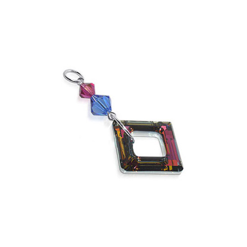 925 Silver Crystal Pendant with Swarovski Elements #BDPS015