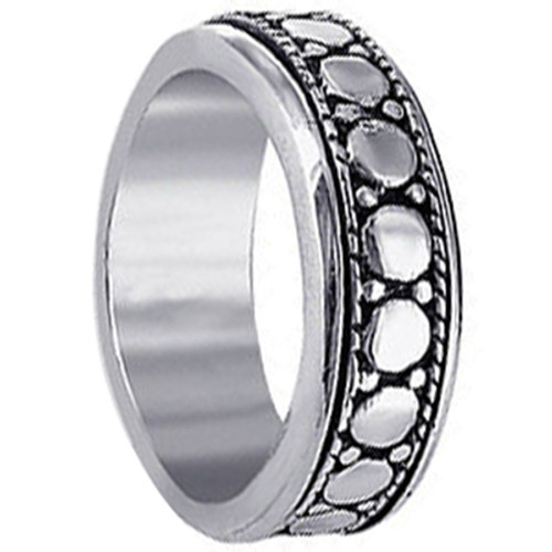 Men's 925 Sterling Silver 7mm Spinning Band
