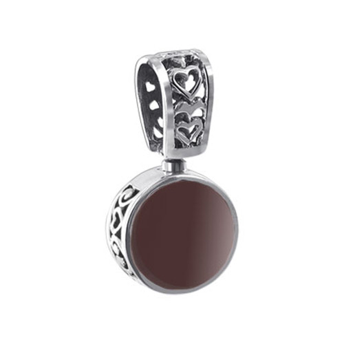 925 Silver Red Stone Vintage Style Reversible Pendant