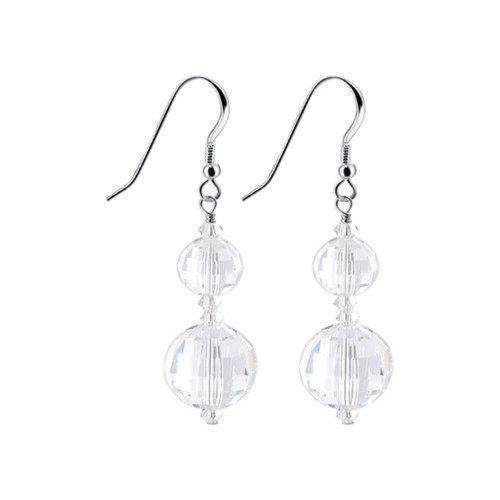 925 Silver Made with Swarovski Elements Crystal Drop Earrings