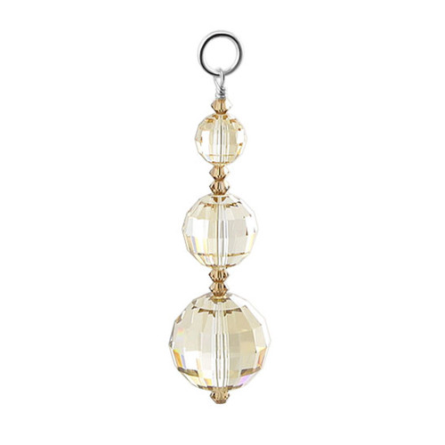 925 Silver Crystal 2 inch Charm Made with Swarovski Elements