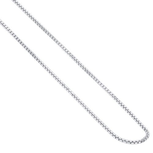 Italian Sterling Silver 1mm Box Chain Necklace
