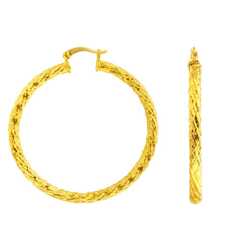 18k Gold Plated Hoop Earrings