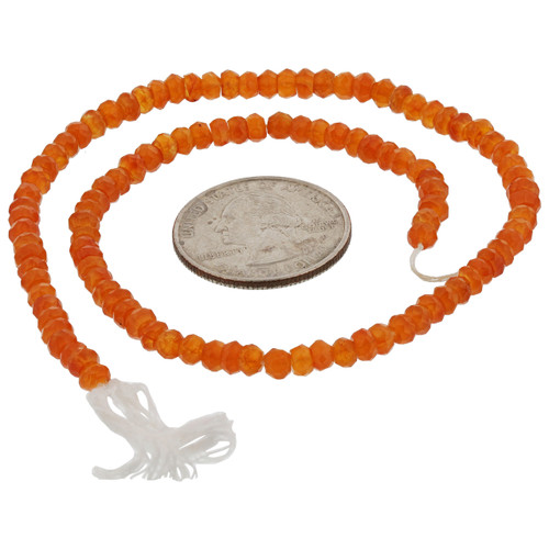 Faceted Carnelian Briolette Cut Beads