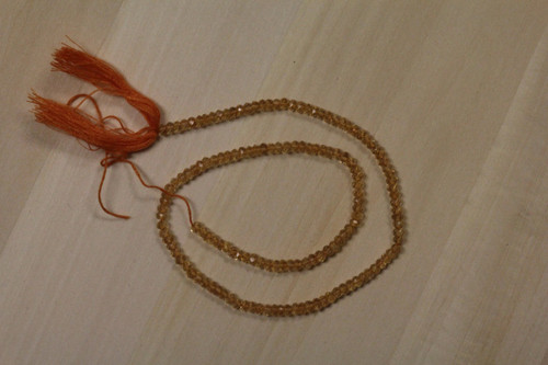 Faceted Citrine Israel Cut Beads for Jewelry Making