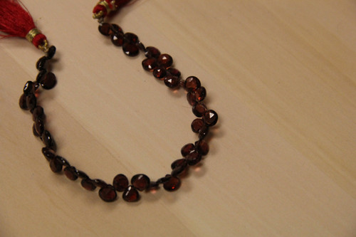 Faceted Garnet Teardrop Shape Beads for Jewelry Making