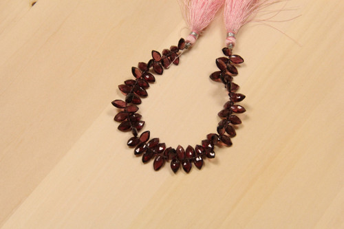 Rhodolite Marquise Beads for Jewelry Making