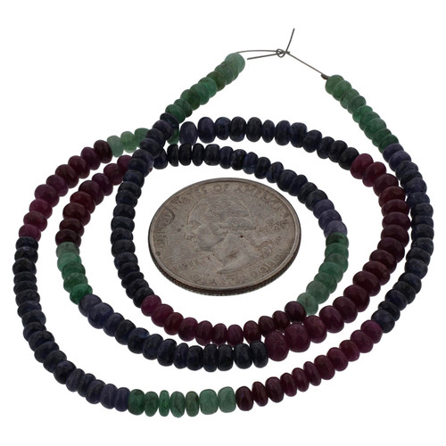 Ruby, Emerald, and Sapphire Bead