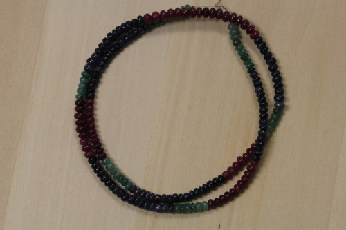 Ruby, Emerald, and Sapphire Bead for Jewelry Making