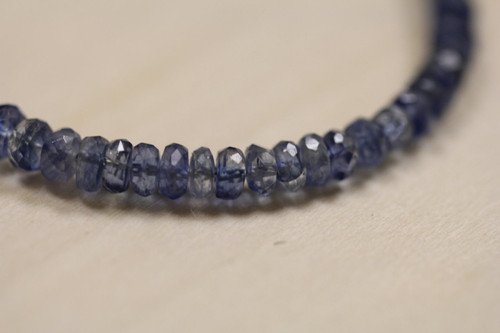 Faceted Kyanite Beads for Jewelry Making