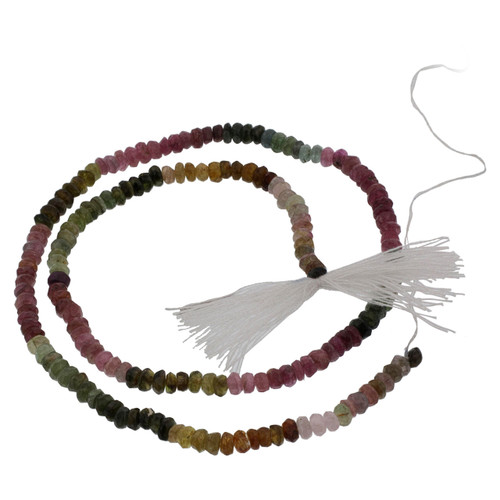 Multi-colored Tourmaline Israel Cut Beads for Jewelry Making