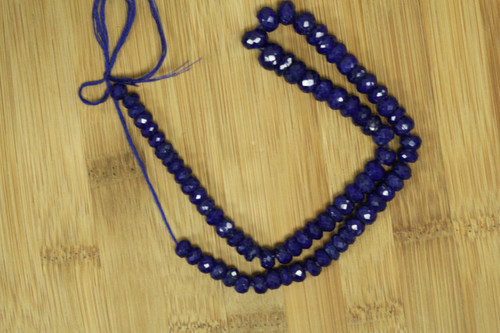 Faceted Lapis Lazuli Beads for Jewelry Making