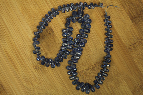 Kyanite Plain Pear Beads for Jewelry Making