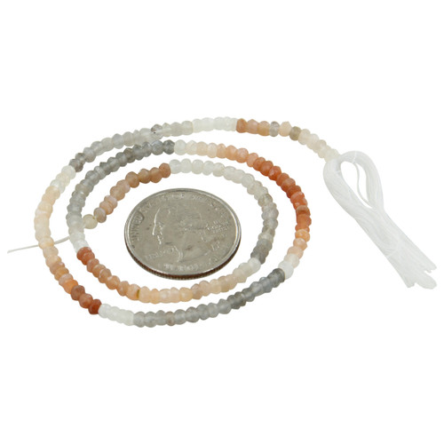 Moonstone Israel Cut Beads