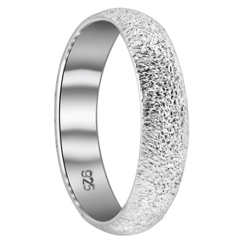 925 Sterling Silver Dust Texture 5mm Band