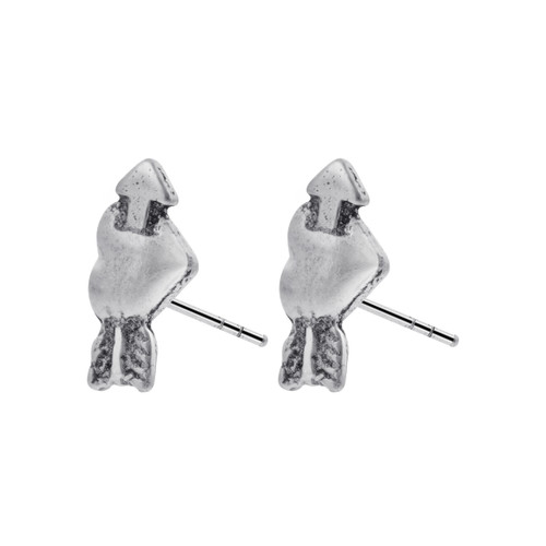925 Silver Cupid Heart & Arrow Post back Stud Earrings