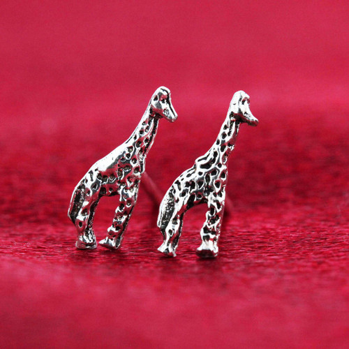 925 Sterling Silver 12mm Giraffe Post back Kids Stud Earrings