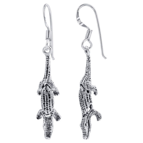 Crocodile Drop Earrings