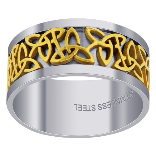 Men's Stainless Steel and Gold Tone Band