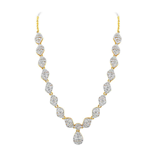 Gold Plated 2 Tone Design Cubic Zirconia Ethnic Bollywood Indian Earrings Necklace Jewelry Set