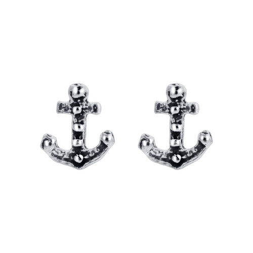 Sailor Ship Anchor Stud Earrings