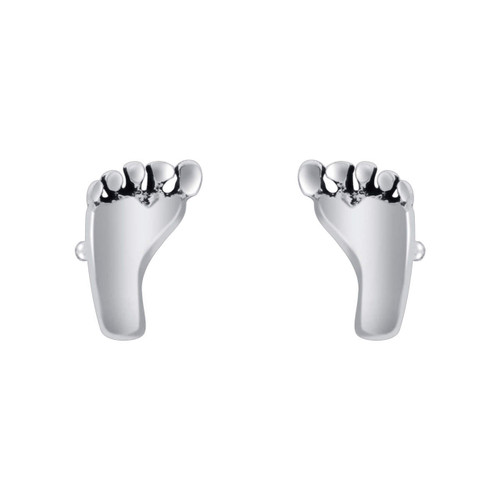 Foot Shape Stud Earrings