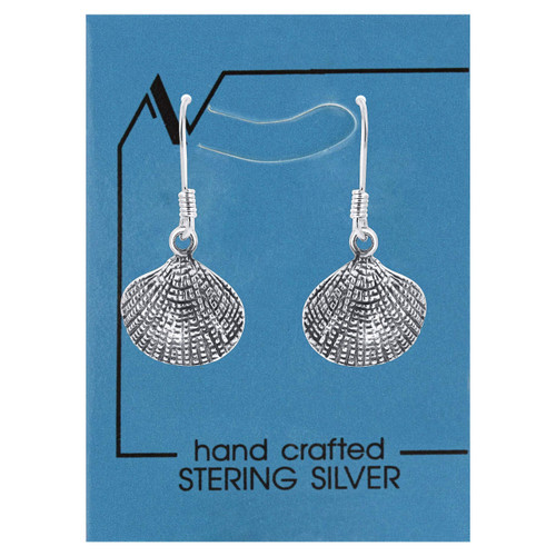 Oyster Textured Drop Earrings