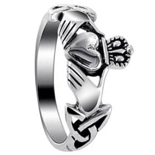 Sterling Silver Irish Claddagh Ring Celtic Friendship and Love
