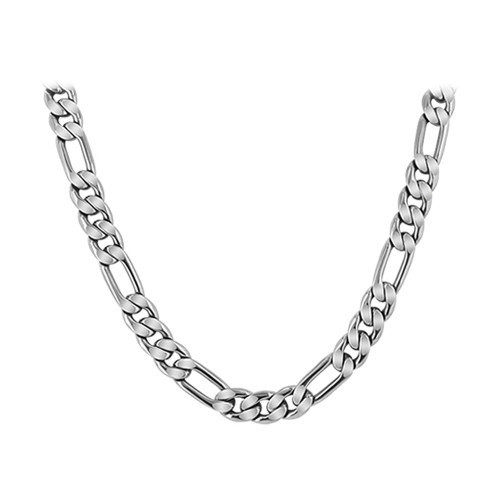 Men's Stainless Steel 6mm wide Figaro Chain Necklace