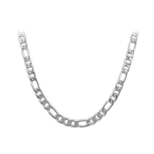 Stainless Steel 5mm wide Figaro Chain Necklace