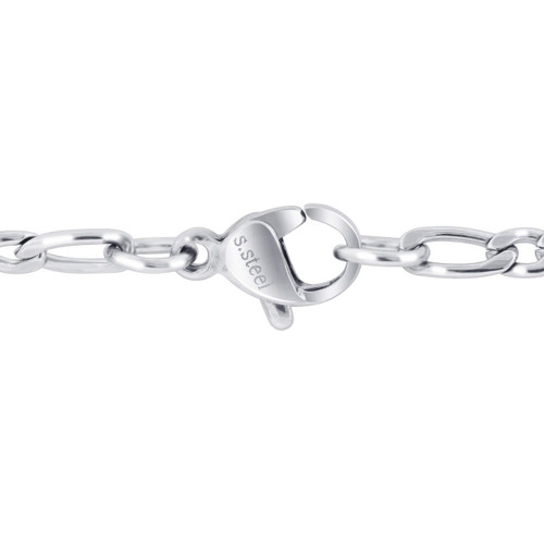 Men's Stainless Steel 3mm Figaro Chain Necklace